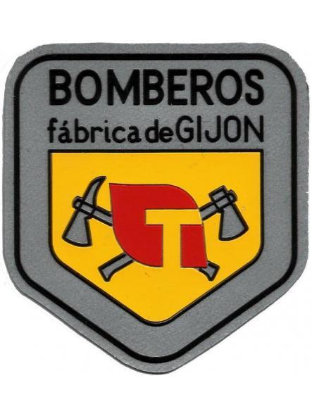 Bomberos fábrica tabacalera Gijón parche insignia emblema distintivo