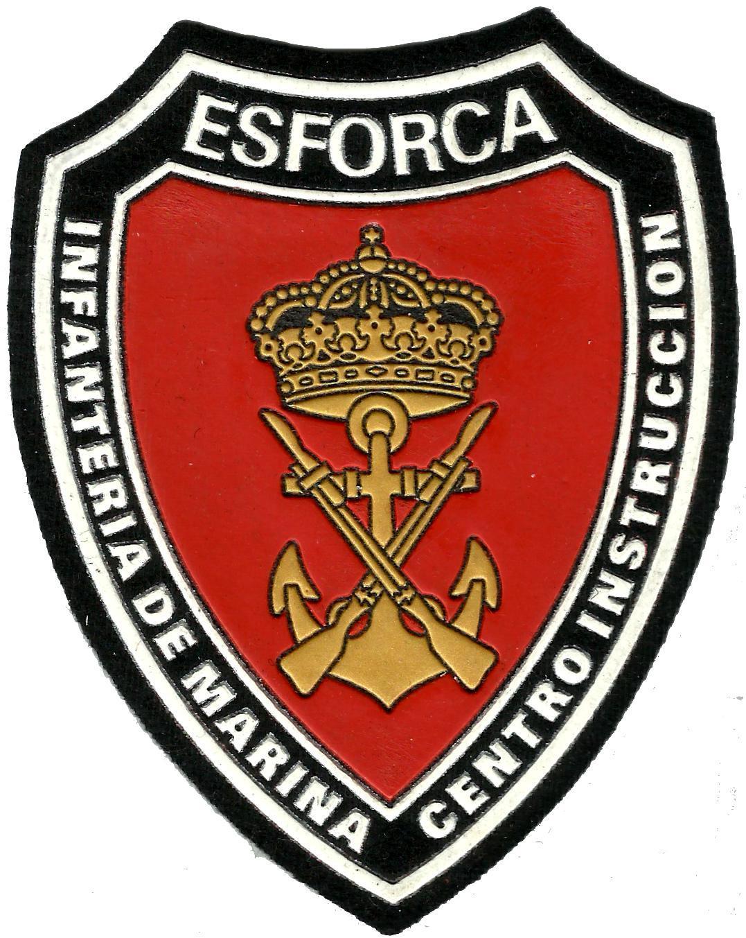 Ejercito Armada Infantería de Marina ESFORCA Centro de instrucción parche insignia emblema distintivo