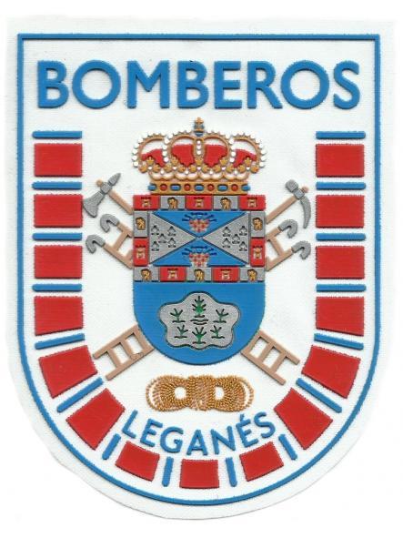 Bomberos de Leganés blanco parche insignia emblema distintivo