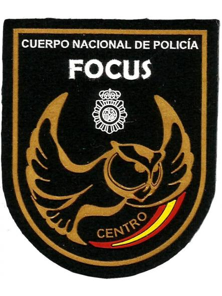 Policía nacional CNP focus centro parche insignia emblema distintivo