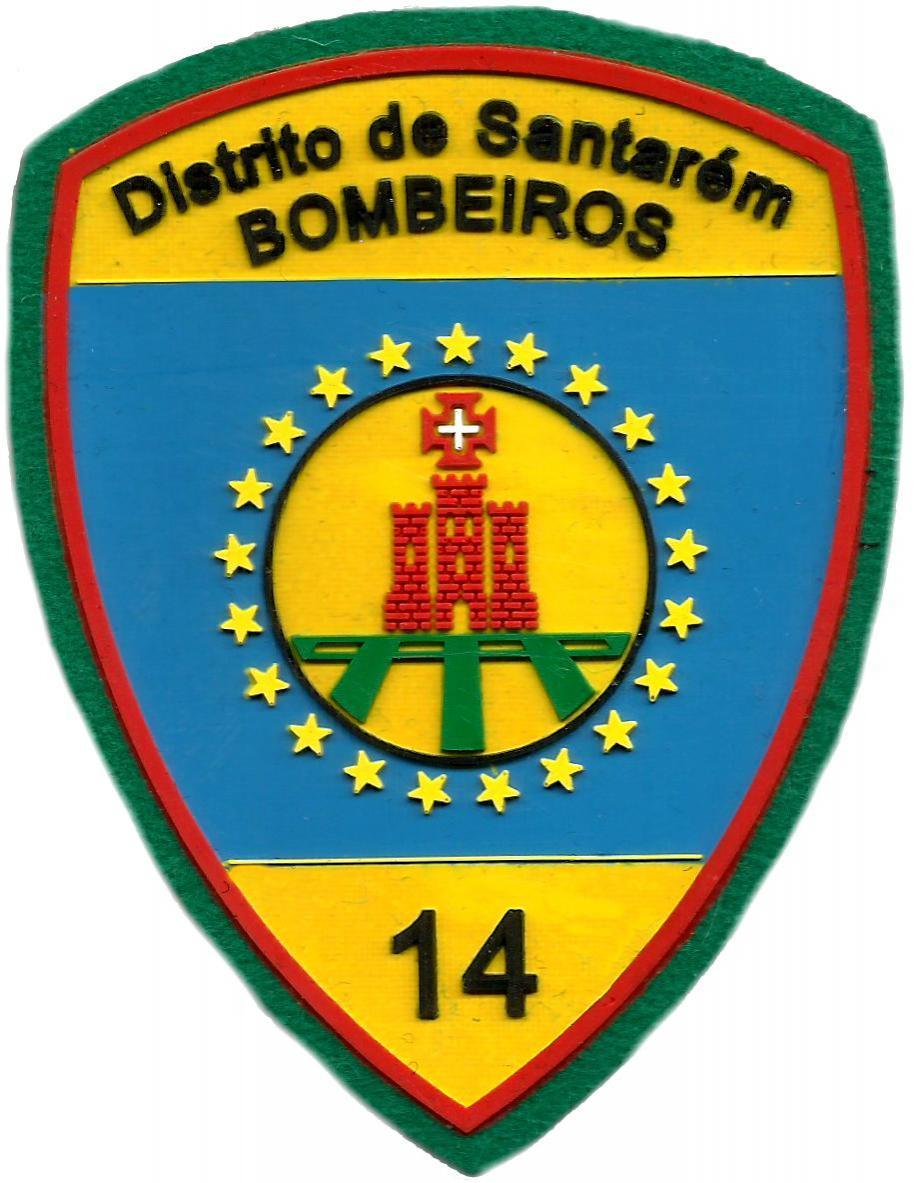 Bomberos de Santarém Portugal parche insignia emblema distintivo