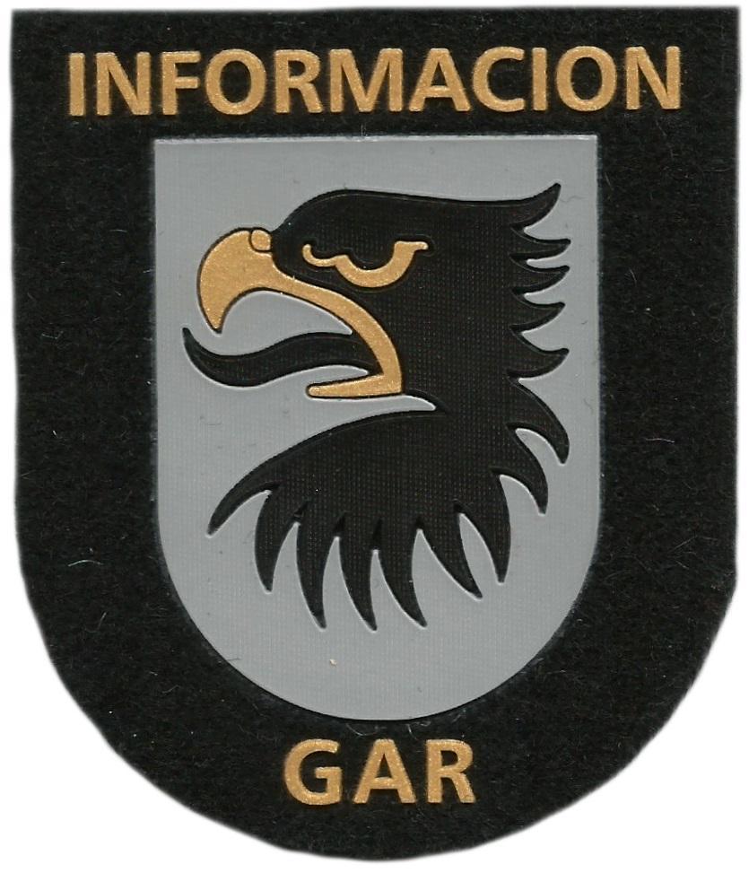 Guardia civil GAR servicio de información parche insignia emblema distintivo