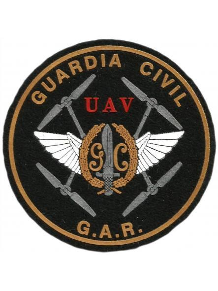 Guardia civil UAV unidad aérea de vigilancia drones GAR parche insignia emblema distintivo