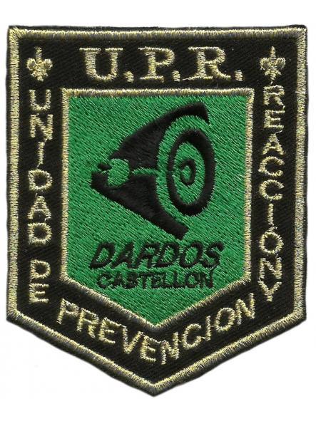 Policía nacional CNP Castellón UPR dardos parche insignia emblema distintivo