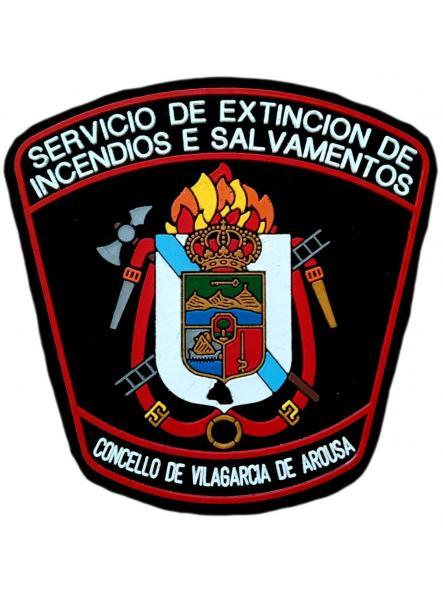 Bomberos servicio extinción de incendios y salvamento de Vilagarcía de Arousa parche insignia emblema distintivo