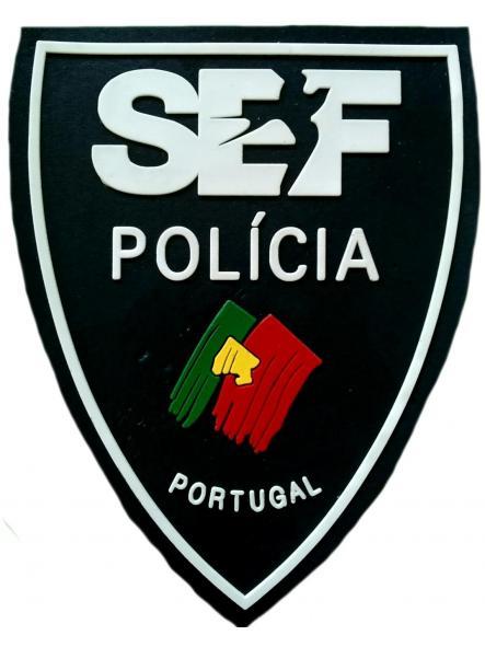 POLICÍA DE PORTUGAL SERVICIO DE EXTRANJERÍA Y FRONTERAS PARCHE INSIGNIA EMBLEMA DISTINTIVO