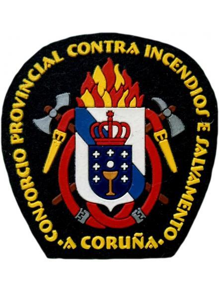 Consorcio de Bomberos y salvamento de Coruña parche insignia emblema distintivo