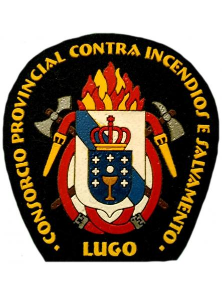 Bomberos servicio contra incendios de Lugo parche insignia emblema distintivo