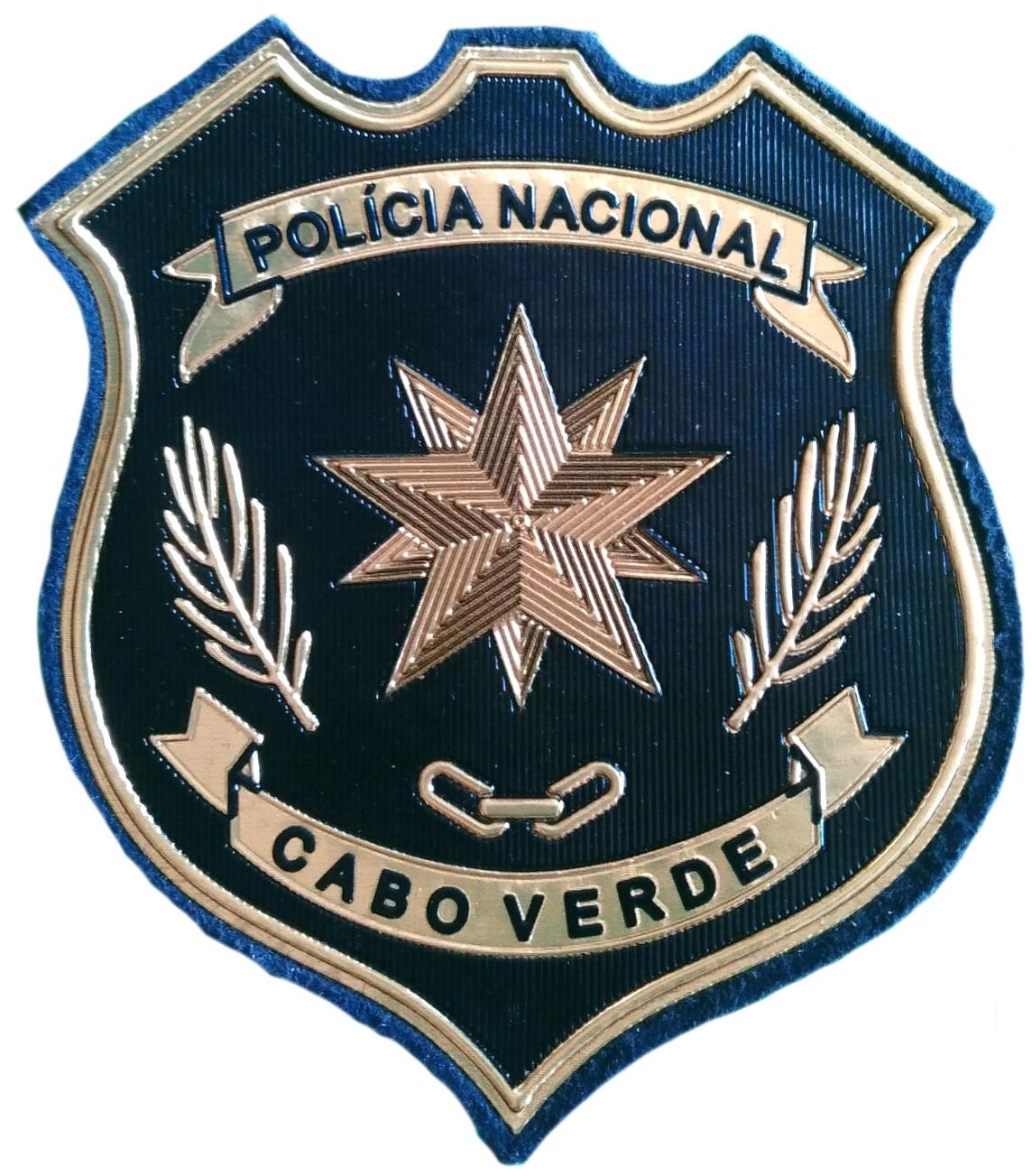 POLICÍA NACIONAL DE CABO VERDE MODELO DORADO JEFATURA PARCHE INSIGNIA EMBLEMA DISTINTIVO
