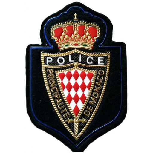 Policía principado de Mónaco parche insignia emblema distintivo