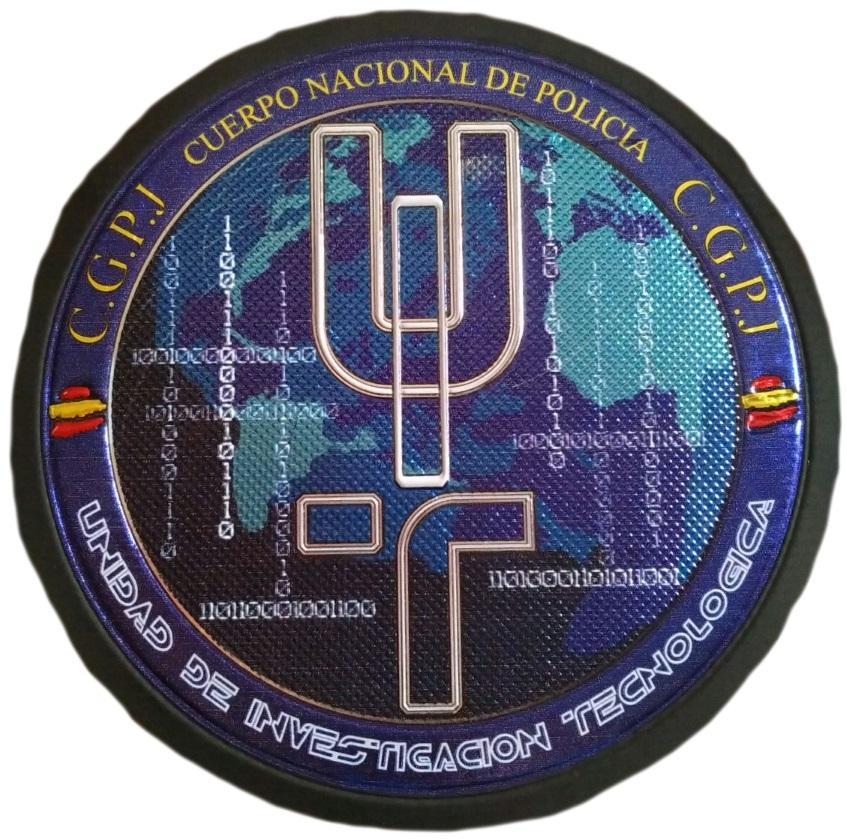 Policía nacional CNP unidad de investigación tecnológica parche insignia emblema distintivo
