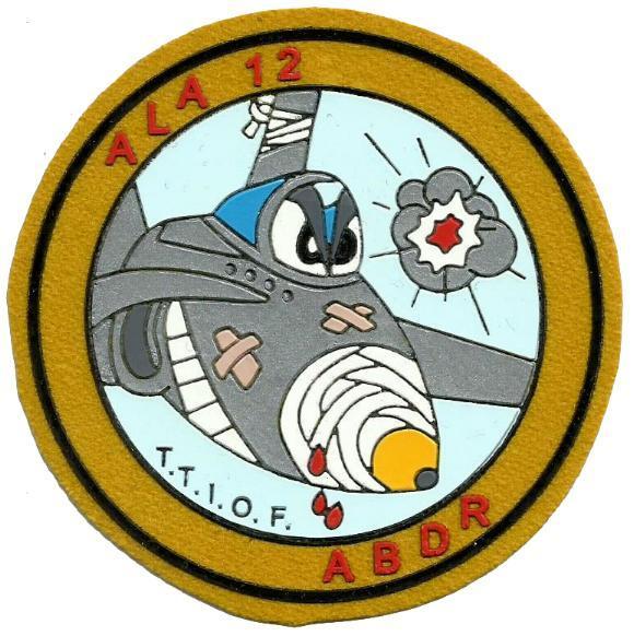 Ejército del aire ala 12 abdr parche insignia emblema distintivo