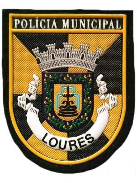 POLICÍA MUNICIPAL DE LA CIUDAD DE LOURES EN PORTUGAL PARCHE INSIGNIA EMBLEMA DISTINTIVO