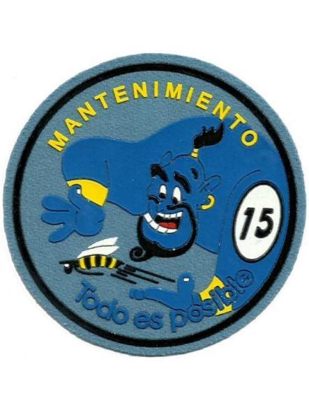 Ejército del aire ala 15 mantenimiento parche insignia emblema distintivo
