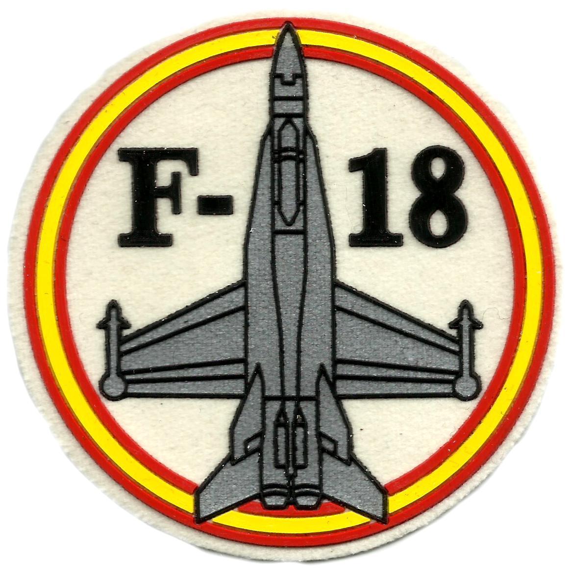 Ejército del aire caza F-18 parche insignia emblema distintivo