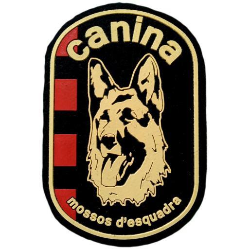 Policía de Cataluña Mossos d´esquadra unidad canina parche insignia emblema distintivo