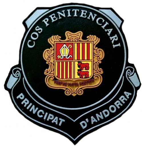 Policía de Andorra Servicio de Prisiones Cos Penitenciari parche insignia emblema distintivo