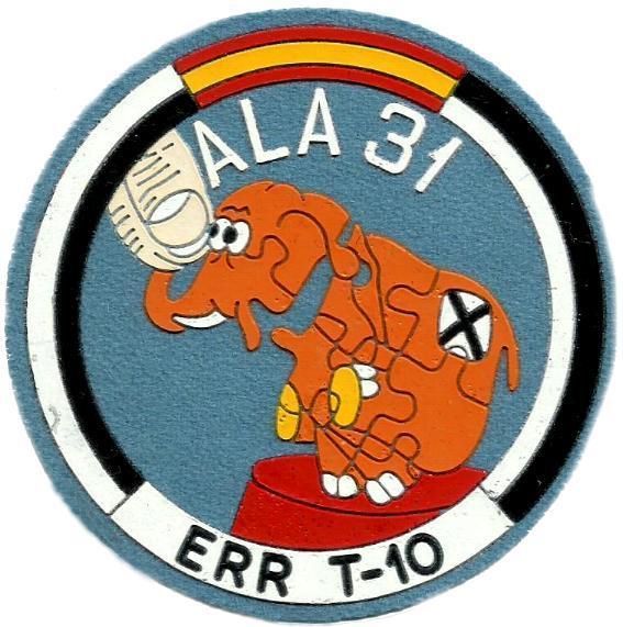 Ejército del aire ala 31 err t-10 parche insignia emblema distintivo