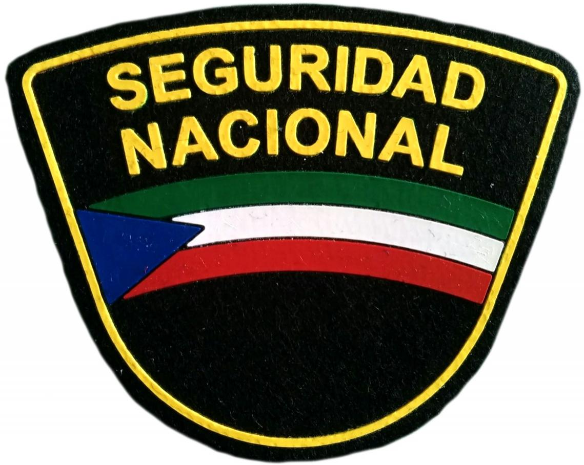 Policía de Seguridad Nacional de Guinea Ecuatorial parche insignia emblema distintivo