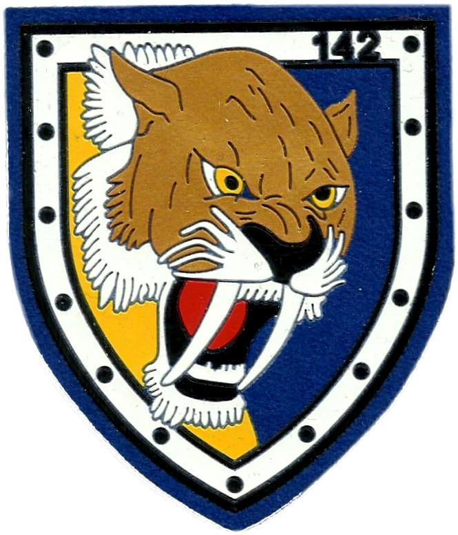 Ejército del aire escuadrón 142 parche insignia emblema distintivo