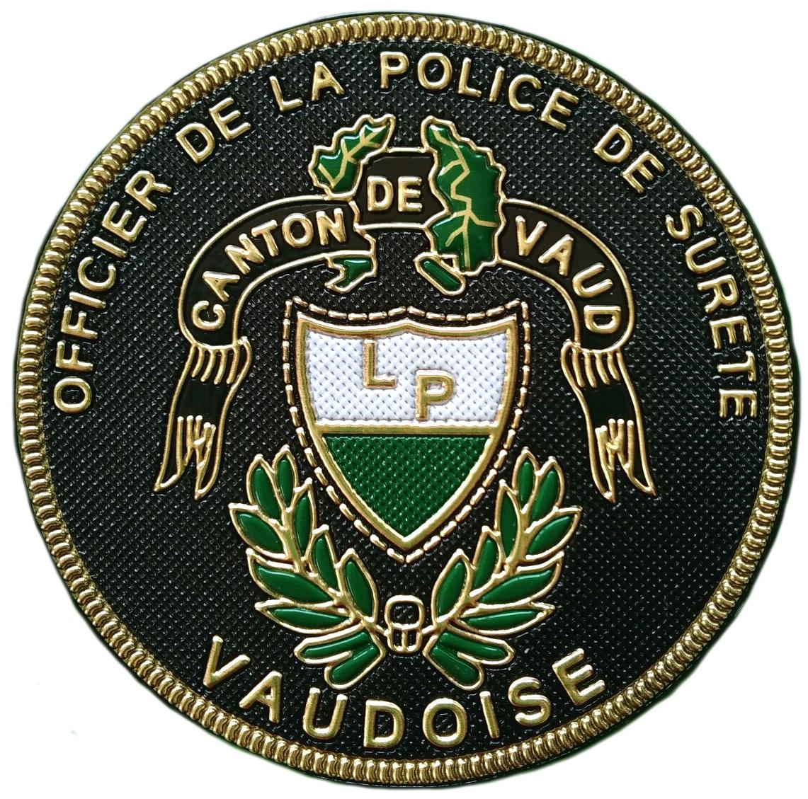 Policía Oficial del cantón de Vaud Suiza parche insignia emblema distintivo