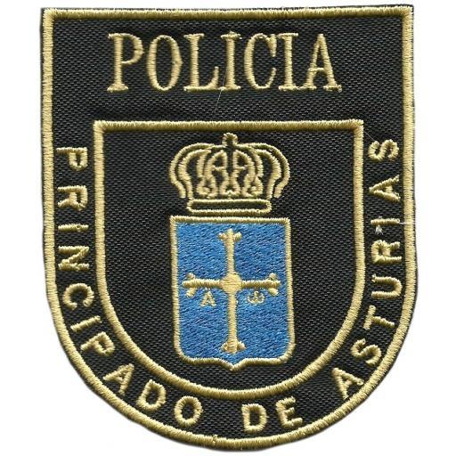 Policía nacional CNP unidad adscrita al principado de Asturias parche insignia emblema distintivo
