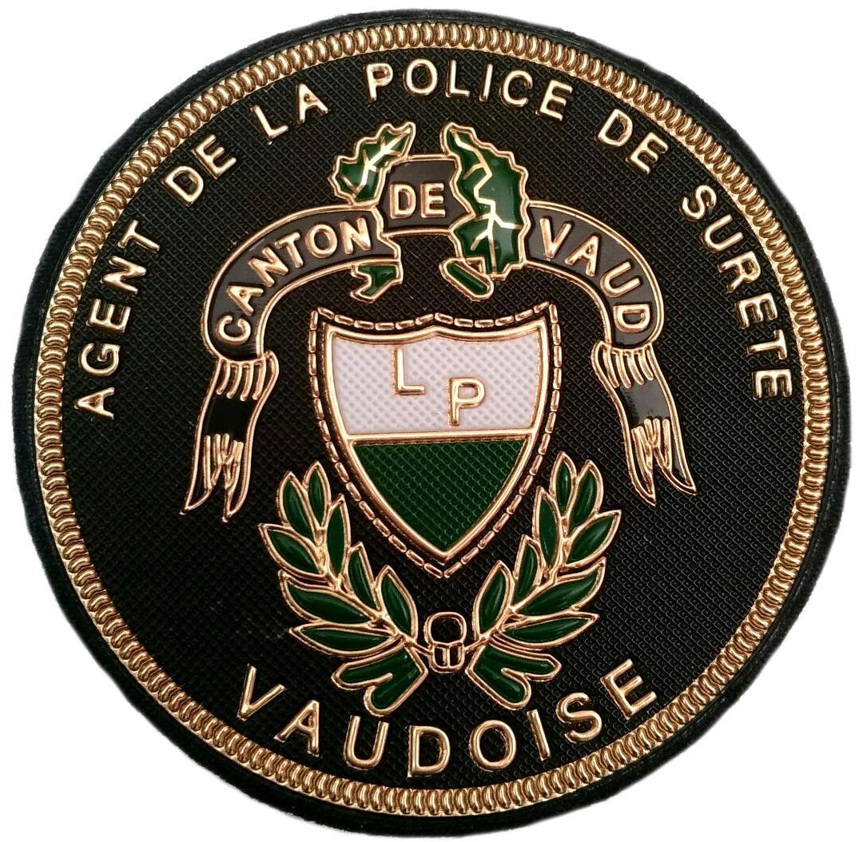 Policía Agente del cantón de Vaud Suiza parche insignia emblema distintivo