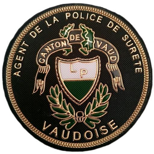 Policía Agente del cantón de Vaud Suiza parche insignia emblema distintivo [0]