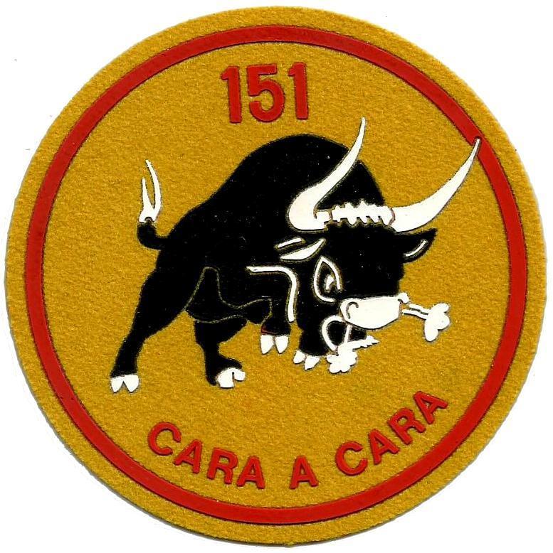 Ejército del aire escuadrón 151 parche insignia emblema distintivo