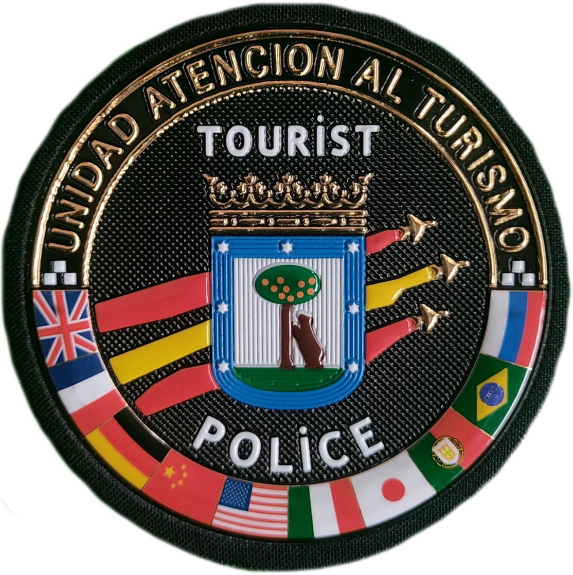 POLICÍA MUNICIPAL MADRID UNIDAD DE ATENCIÓN AL TURISMO PARCHE INSIGNIA EMBLEMA