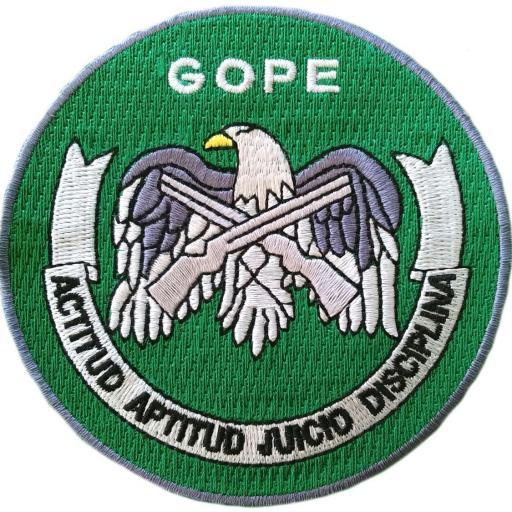 Policía carabineros de chile gope grupo de operaciones especiales swat team parche insignia emblema distintivo