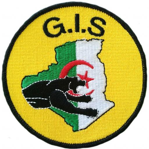 Policía nacional de Argelia gis geo swat team parche insignia emblema distintivo