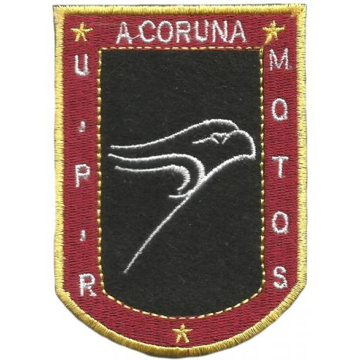Policía nacional CNP motos UPR Coruña parche insignia emblema distintivo