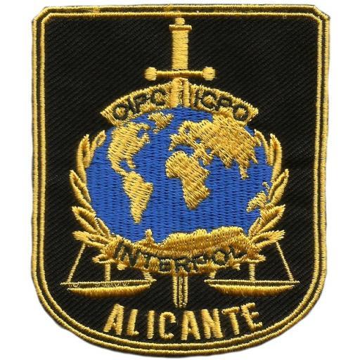 Policía nacional CNP interpol Alicante parche insignia emblema distintivo