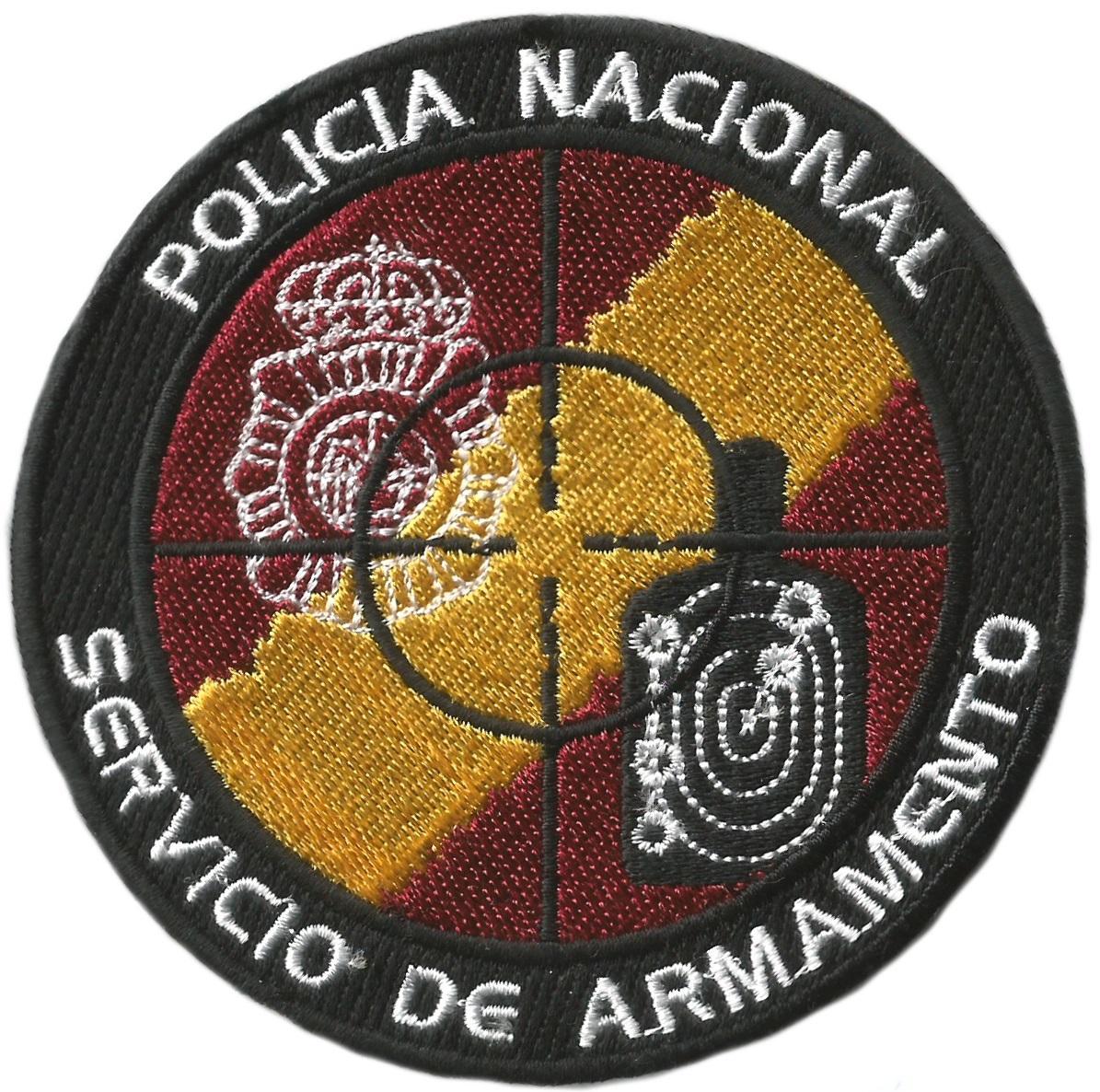 Policía nacional CNP servicio de armamento parche insignia emblema distintivo