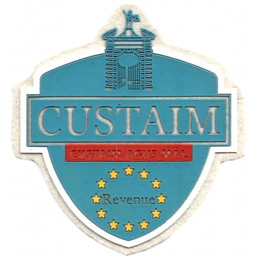 Policía de fronteras de Gibraltar Custaim parche insignia emblema distintivo