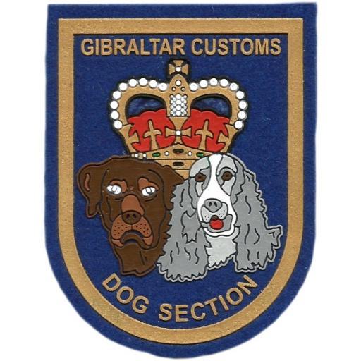 Policía de fronteras de Gibraltar Sección Canina parche insignia emblema distintivo
