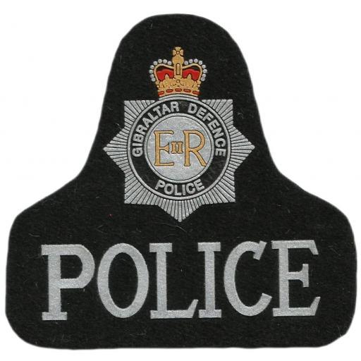 Policía de Gibraltar Defence Police parche insignia emblema distintivo