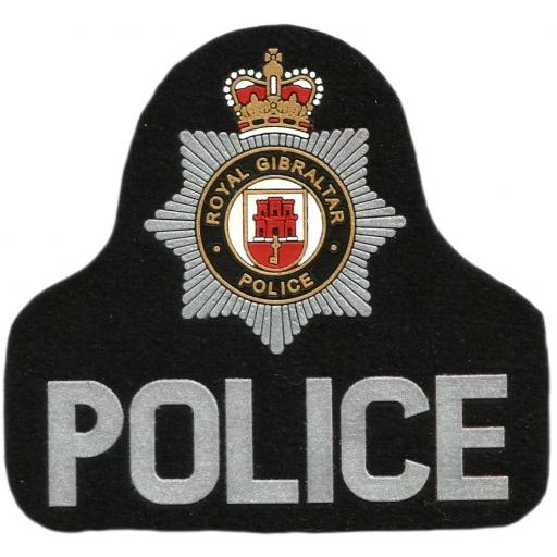 Policía de Gibraltar Royal Police parche insignia emblema distintivo