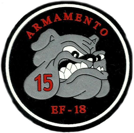 Ejército del aire ala 15 armamento parche insignia emblema distintivo