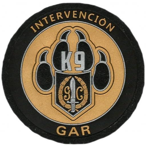 Guardia civil gar intervención con perros k-9 parche insignia emblema distintivo