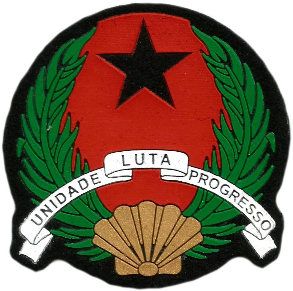 Policía Nacional de Guinea Bissau parche insignia emblema distintivo