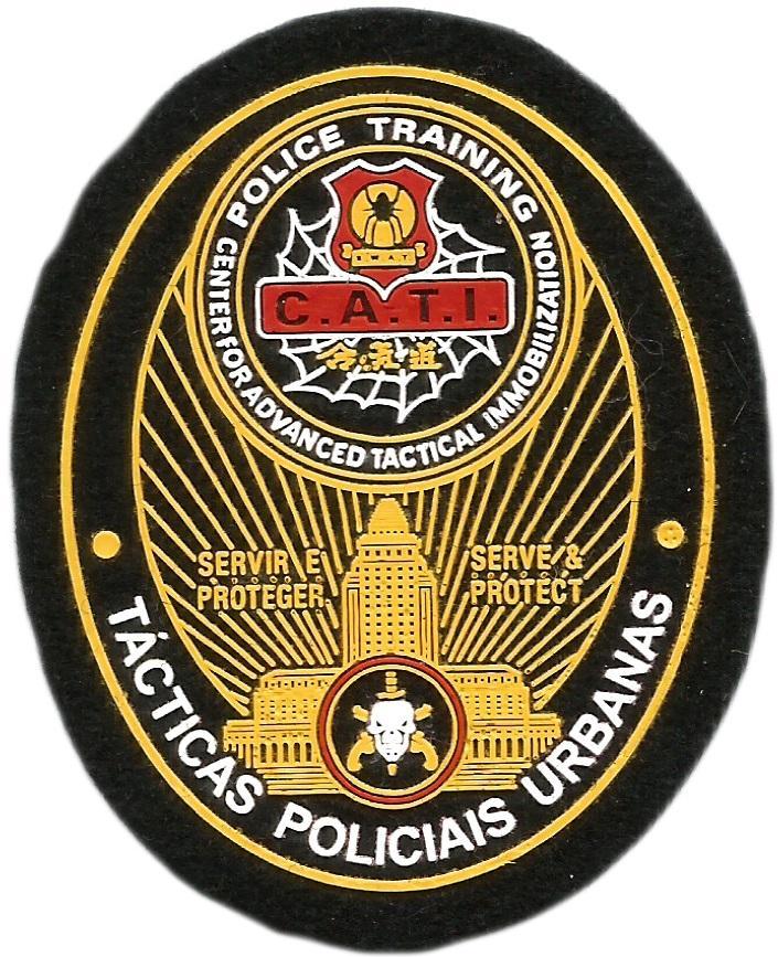 PARCHE POLICÍA FEDERAL DE BRASIL BOPE TÁCTICAS POLICIALES URBANAS