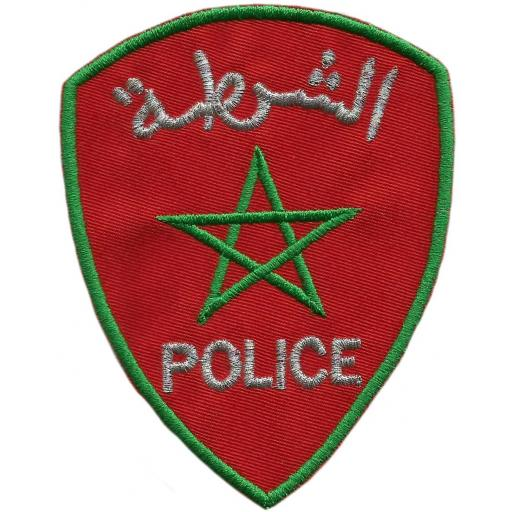 Policía Nacional de Marruecos parche insignia emblema distintivo