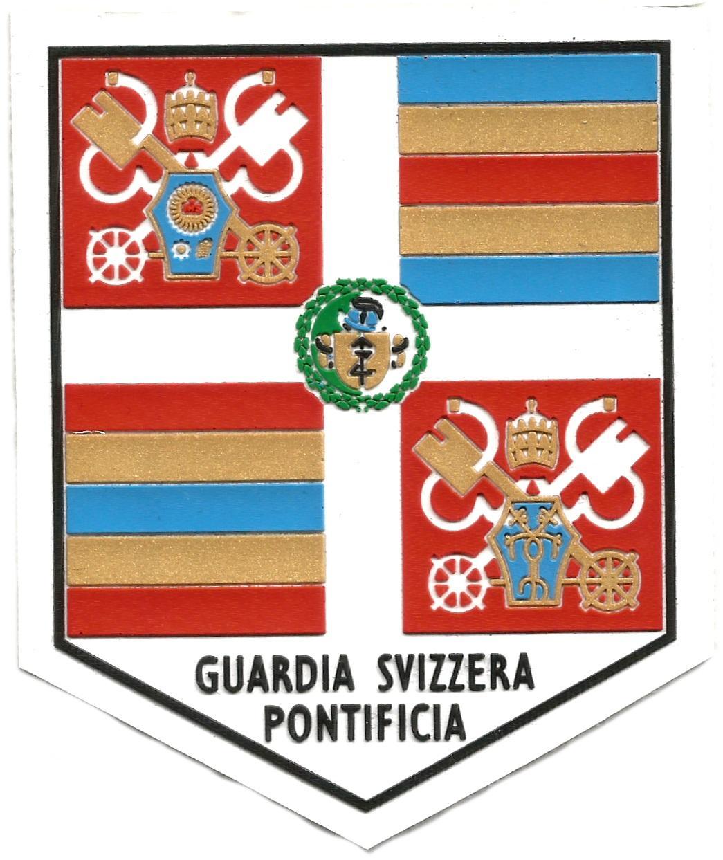 Guardia suiza vaticana Papa Francisco I parche insignia emblema distintivo