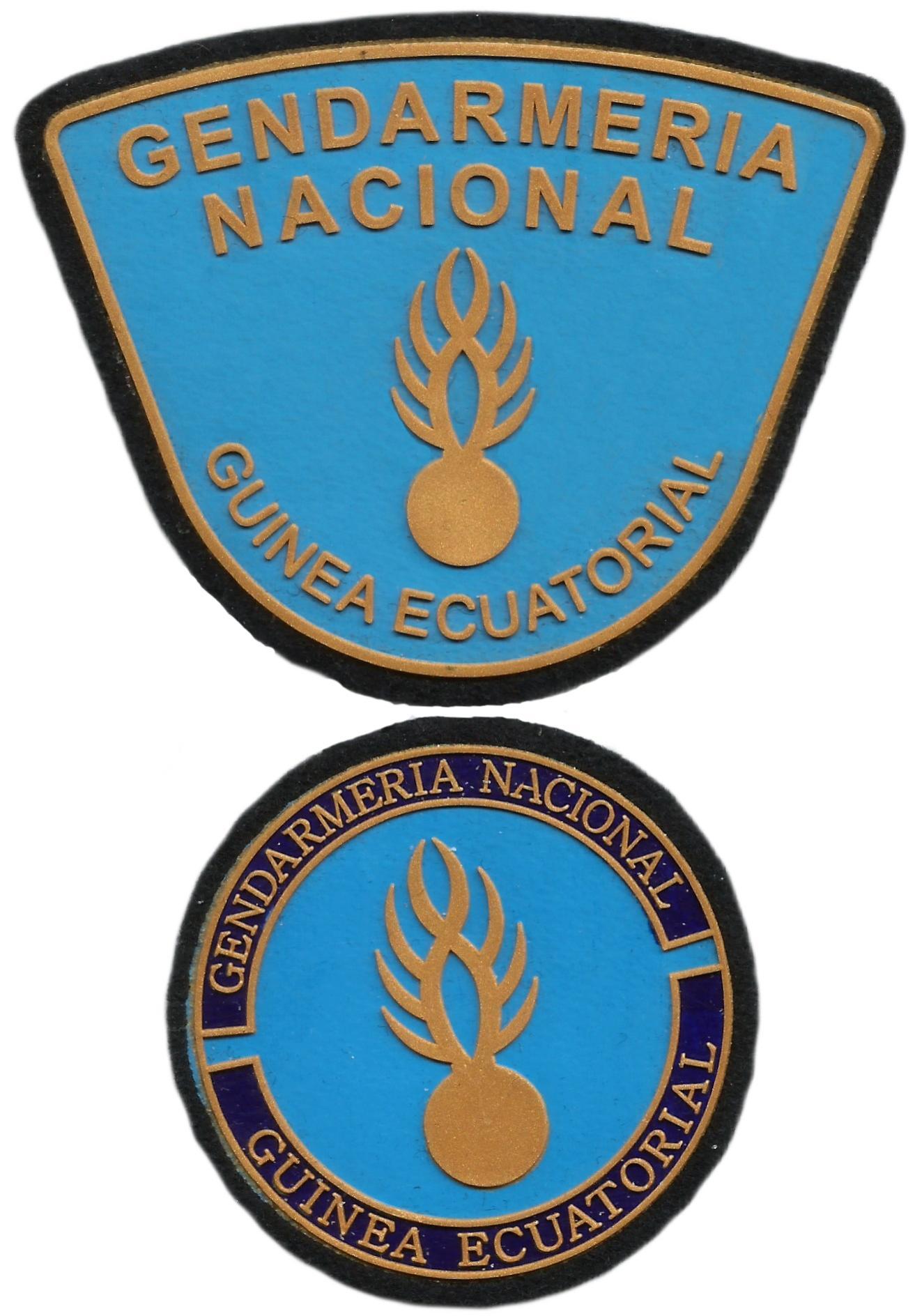 Policía Gendarmería Nacional de Guinea Ecuatorial parche insignia emblema distintivo