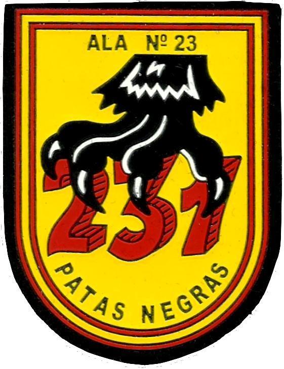 Ejército del aire escuadrón 231 patas negras parche insignia emblema distintivo