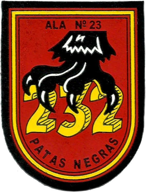 Ejército del aire escuadrón 232 patas negras parche insignia emblema distintivo