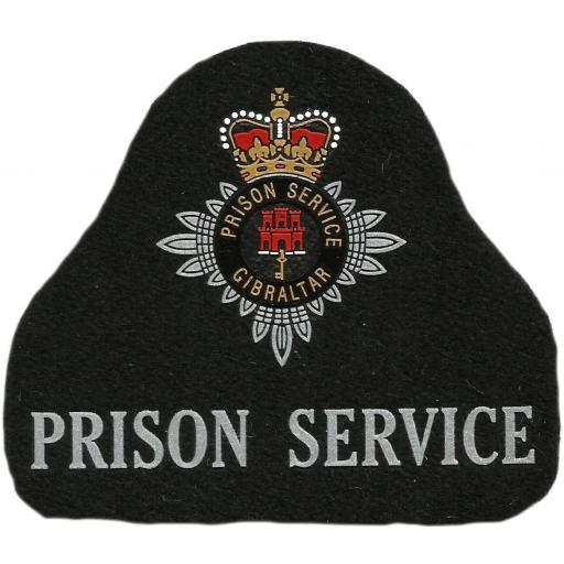 Servicio de Prisiones Policía de Gibraltar Prison Service parche insignia emblema distintivo