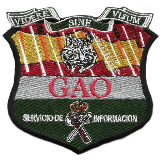 Guardia civil GAO servicio de información parche insignia emblema distintivo